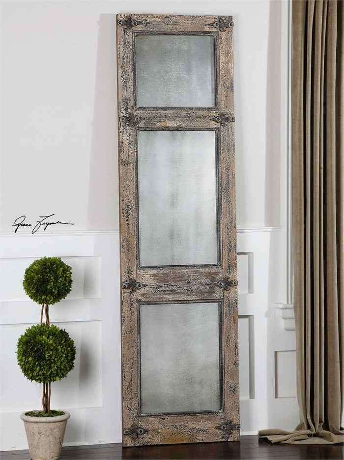 "Saragano Slate Blue Rustic Decorative Floor Mirror 22""x78""x2"""