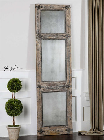 "Saragano Slate Blue Rustic Decorative Floor Mirror 22""x78""x2"" Decorative Mirrors Uttermost"