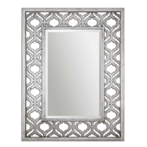 Sorbolo Silver Mirror Transitional Wall Mirrors Uttermost