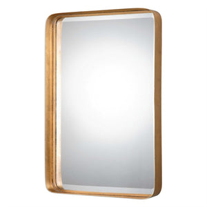 "Crofton Metal Framed Mirror 20""x30""x3"" Gold Mirrors Uttermost"