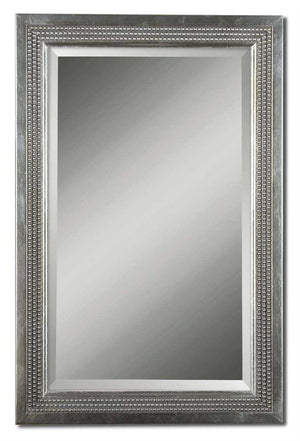 Beaded Silver Vanity Mirror Bathroom Mirrors Uttermost