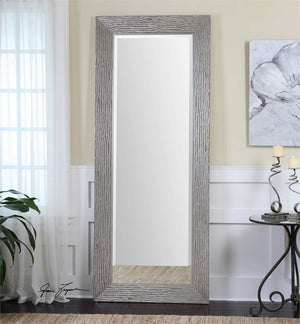 "Wagga Wagga Large Silver Mirror 34""x82""x2"" Floor Mirrors Uttermost"
