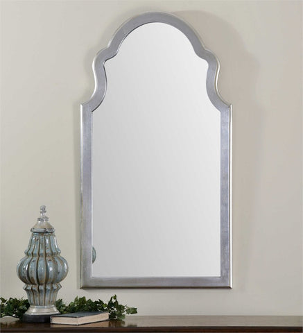 Brady Arched Silver Mirror Arch Mirrors Uttermost