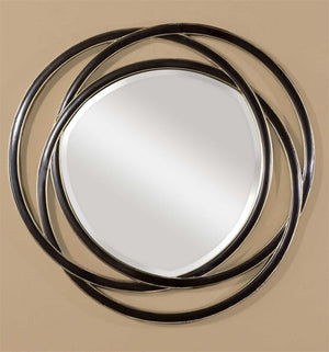 "Dalis Round Mirror 48""X48"" Contemporary Mirrors Uttermost"