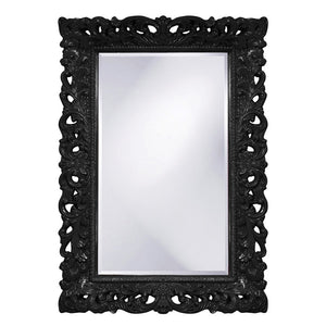 Barcelona Mirror Antique Mirrors Howard Elliott Glossy Black
