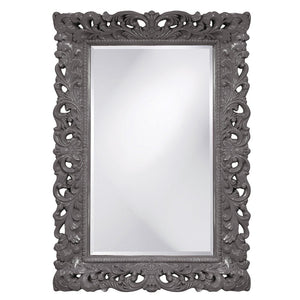 Barcelona Mirror Antique Mirrors Howard Elliott Glossy Charcoal Gray
