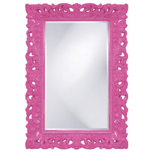 Barcelona Mirror Antique Mirrors Howard Elliott Glossy Hot Pink