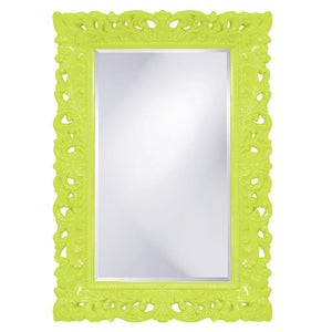 Barcelona Mirror Antique Mirrors Howard Elliott Glossy Green
