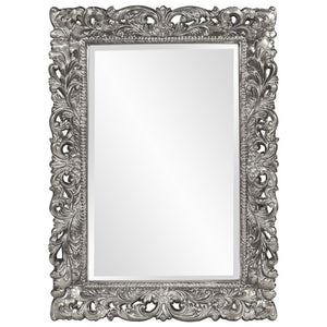 Barcelona Mirror Antique Mirrors Howard Elliott Glossy Nickel