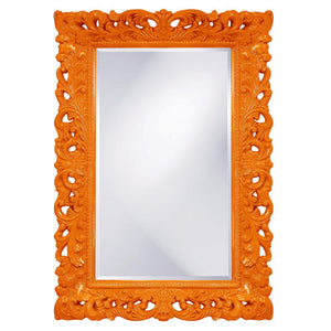 Barcelona Mirror Antique Mirrors Howard Elliott Glossy Orange