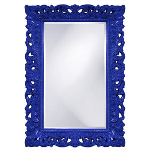 Barcelona Mirror Antique Mirrors Howard Elliott Glossy Royal Blue
