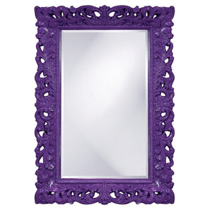 Barcelona Mirror Antique Mirrors Howard Elliott Glossy Royal Purple