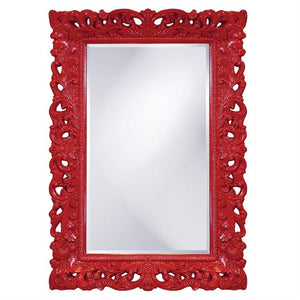 Barcelona Mirror Antique Mirrors Howard Elliott Glossy Red