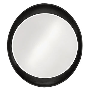 Hyannis Round Mirror Contemporary Mirrors Howard Elliott Glossy Black