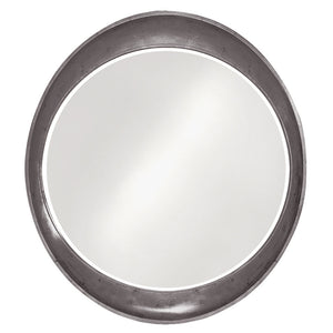 Hyannis Round Mirror Contemporary Mirrors Howard Elliott Glossy Charcoal Gray