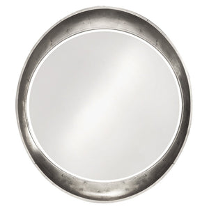 Hyannis Round Mirror Contemporary Mirrors Howard Elliott Glossy Nickel