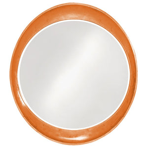 Hyannis Round Mirror Contemporary Mirrors Howard Elliott Glossy Orange