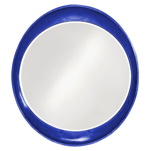 Hyannis Round Mirror Contemporary Mirrors Howard Elliott Glossy Royal Blue