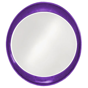 Hyannis Round Mirror Contemporary Mirrors Howard Elliott Glossy Royal Purple