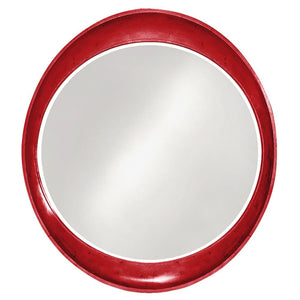 Hyannis Round Mirror Contemporary Mirrors Howard Elliott Glossy Red