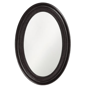 Eason Mirror Oval Mirrors Howard Elliott Glossy Black