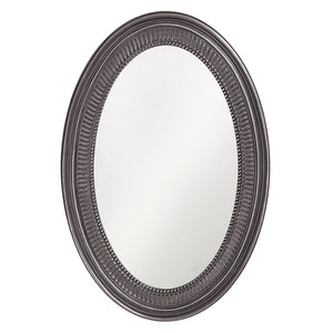 Eason Mirror Oval Mirrors Howard Elliott Glossy Charcoal Gray
