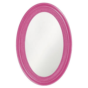 Eason Mirror Oval Mirrors Howard Elliott Glossy Hot Pink