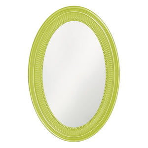 Eason Mirror Oval Mirrors Howard Elliott Glossy Green