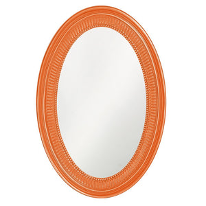 Eason Mirror Oval Mirrors Howard Elliott Glossy Orange