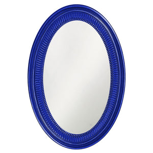 Eason Mirror Oval Mirrors Howard Elliott Glossy Royal Blue