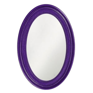 Eason Mirror Oval Mirrors Howard Elliott Glossy Royal Purple