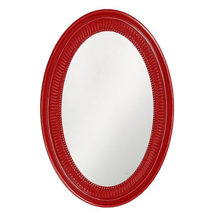 Eason Mirror Oval Mirrors Howard Elliott Glossy Red