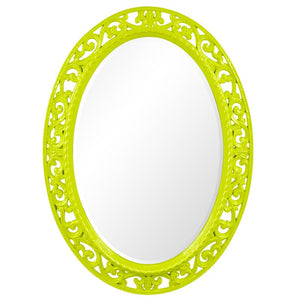 Mathieu Oval Mirror Oval Mirrors Howard Elliott Glossy Green