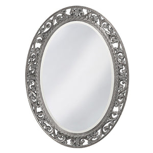 Mathieu Oval Mirror Oval Mirrors Howard Elliott Glossy Nickel
