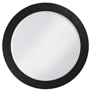 Petrini Round Mirror Contemporary Mirrors Howard Elliott Glossy Black