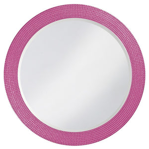 Petrini Round Mirror Contemporary Mirrors Howard Elliott Glossy Hot Pink