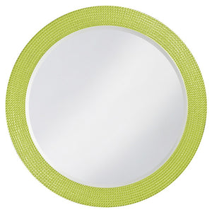Petrini Round Mirror Contemporary Mirrors Howard Elliott Glossy Green