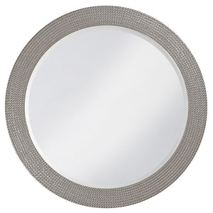 Petrini Round Mirror Contemporary Mirrors Howard Elliott Glossy Nickel