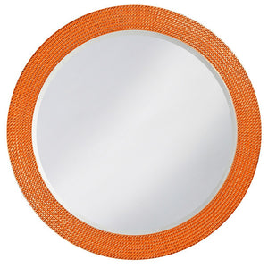 Petrini Round Mirror Contemporary Mirrors Howard Elliott Glossy Orange