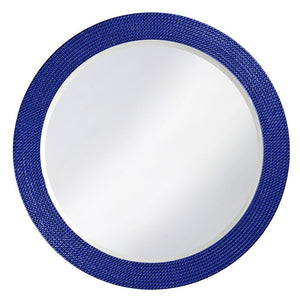 Petrini Round Mirror Contemporary Mirrors Howard Elliott Glossy Royal Blue