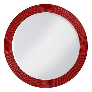 Petrini Round Mirror Contemporary Mirrors Howard Elliott Glossy Red