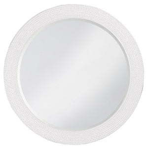 Petrini Round Mirror Contemporary Mirrors Howard Elliott Glossy White