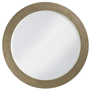 Petrini Round Mirror Contemporary Mirrors Howard Elliott Silver Leaf