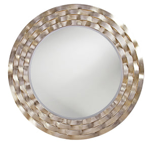 Gratiana Round Silver Mirror Contemporary Mirrors Howard Elliott