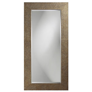 Petrini Rectangular Mirror Contemporary Mirrors Howard Elliott Pearl Silver Leaf