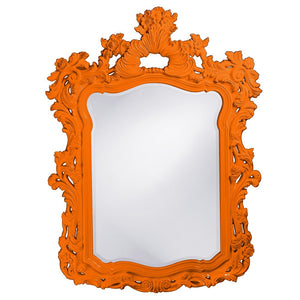 "Berry Ornate Mirror 42""x56"" Ornate Mirrors Howard Elliott Glossy Orange"