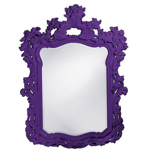 "Berry Ornate Mirror 42""x56"" Ornate Mirrors Howard Elliott Glossy Royal Purple"