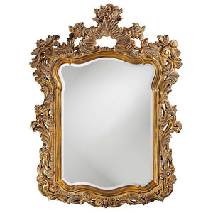 "Berry Ornate Mirror 42""x56"" Ornate Mirrors Howard Elliott Antique Gold"