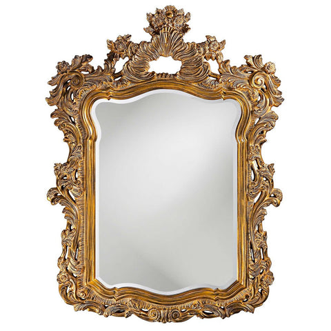 "Berry Ornate Gold Mirror 42""x56"" - Classy Mirrors"