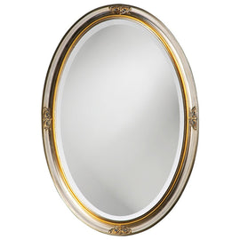 Hadar Silver and Gold Oval Mirror - Classy Mirrors